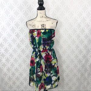 RACHEL RACHEL ROY Floral Strapless Mini Dress